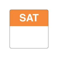 REMOVABLE LABELS 40MM SQUARE SATURDAY - Click for more info