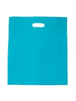 PLASTIC BAG DIE CUT HANDLE LARGE BLUE - Click for more info
