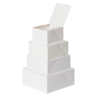 CAKE BOX WHITE LINED 4INCH - Click for more info