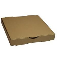 PIZZA CARTON PLAIN BROWN 12IN - Click for more info