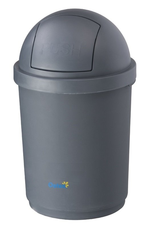 BIN WITH DOMED LID 28L GREY - Click for more info