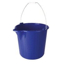 PLASTIC BUCKET BLUE 12LTR - Click for more info
