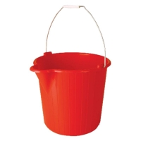 PLASTIC BUCKET RED 12LTR - Click for more info