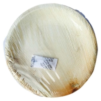 PLATE ROUND PALM LEAF 7IN - Click for more info