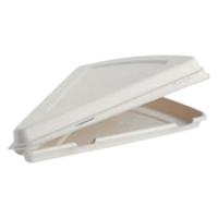 PIZZA SLICE CLAMSHELL BIOPAK WHITE 9IN (E-B-HLP-N_PK250 PACK OF 250)