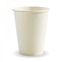 COFFEE CUP BIOPAK 12OZ WHITE SINGLE WALL - Click for more info