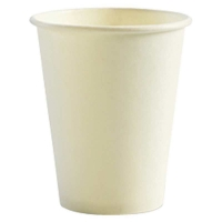COFFEE CUP BIOPAK 8OZ WHITE SINGLE WALL - Click for more info