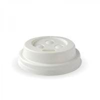 COFFEE CUP LID 4OZ BIOPAK WHITE - Click for more info