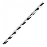 REGULAR PAPER STRAW BLACK STRIPE - Click for more info